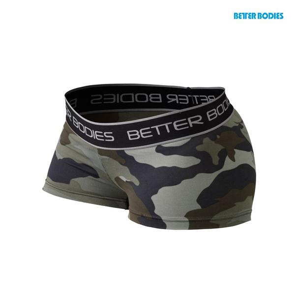 Fitness hotpant, Green Camo