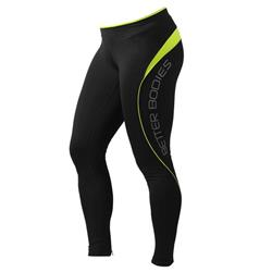 Fitness long tights, Black/lime