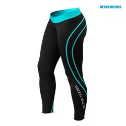 Athlete tights, Black / Aqua
