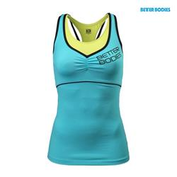 2-layer logo top, Aqua blue