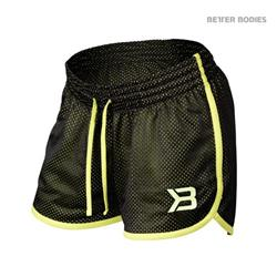 Race Mesh Shorts, Black/lime