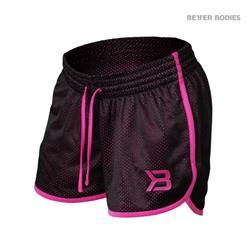 Race Mesh Shorts, Black/pink