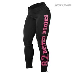 Varsity Tights, Black/pink