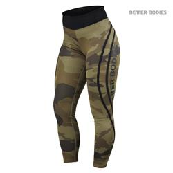 Camo High Tights, Dark green camo