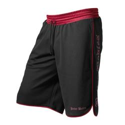 Mesh gym shorts, Black/red