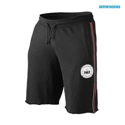 BB raw sweat shorts, Black/red