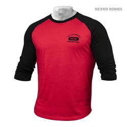 Mens Baseball Tee, Bright red