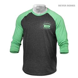 Mens Baseball Tee, Green/Antracite