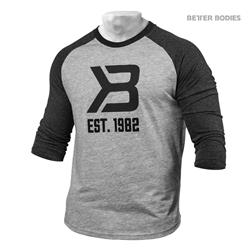 Mens Baseball Tee, Greymel/Antracite