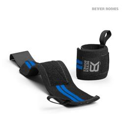 Elastic wrist wraps, Black/blue