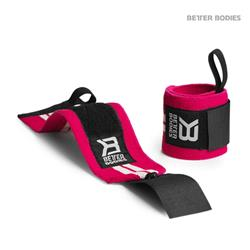 Womens wrist wraps, Hot pink/white