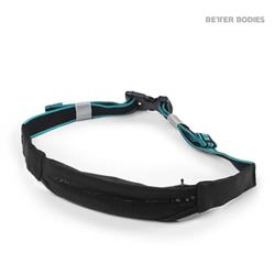 Zip belt, Black/aqua