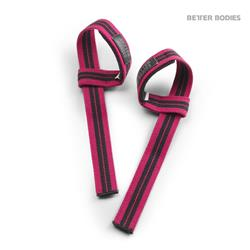 Womens lifting straps, hot pink