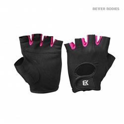 Womens Train Gloves, Black/pink