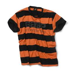 Striped tee, flame/black