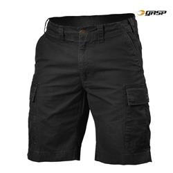 Rough Cargo Shorts, Wash black