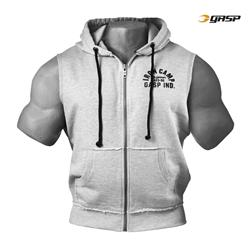 Throwback Zip Hood, Greymelange