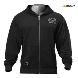 Throwback Zip Hoodie, Wash black