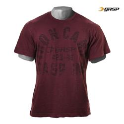 Throwback Slub Tee, Maroon