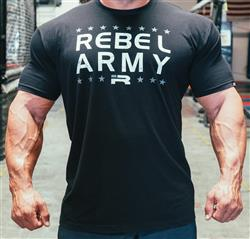 Rebel Army Tee, Black