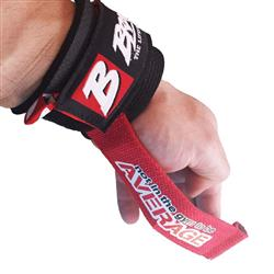 Drag Lifting Straps, Black/red