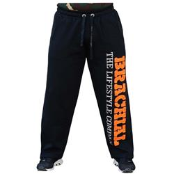 Gym Tracksuit Trousers, Black/orange