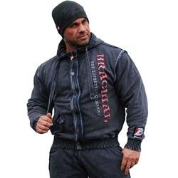 Solid Zip Hoody, Anthracite
